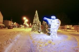 Na zdjęciu Rewal w czasie zimy